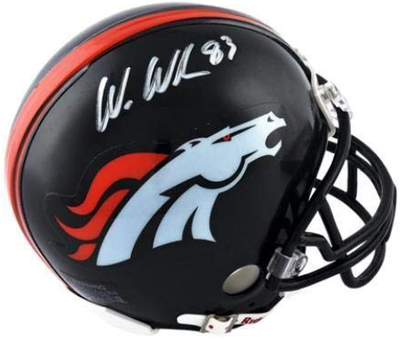 Signed Wes Welker Mini HelmetBroncosAutographed NFL Mini Helmets