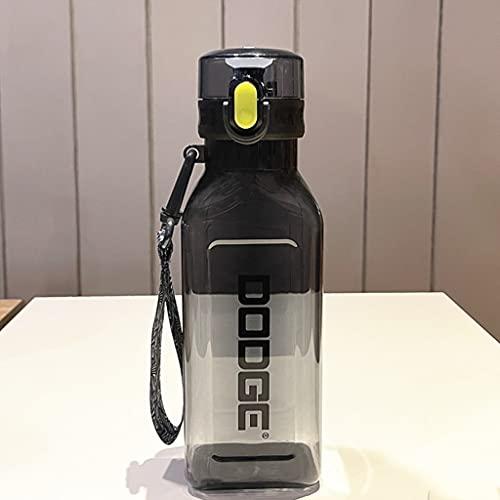 24.6oz / 35.Oz Botella de Agua de Gran Capacidad de plástico BPA Cubierta de Giro Gratis de un Solo Clic (Color : Black, tamaño : Small-24.6oz)