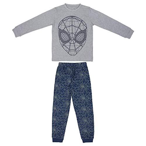 Artesania Cerda Pijama Largo Spiderman Conjuntos, Gris (Gris C13), 8 Años para Niños