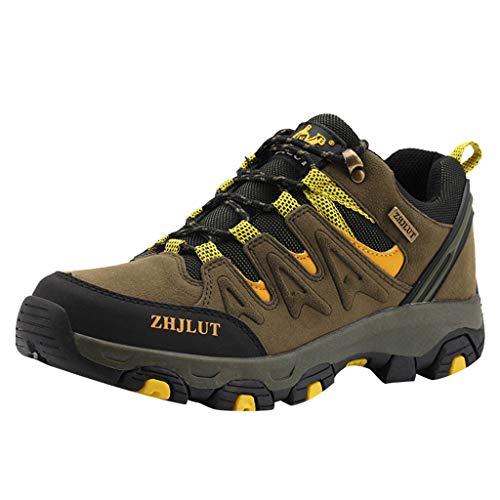 HDUFGJ Herren Damen Trekking-& Wanderschuhe Outdoor-Schuhe Atmungsaktiv rutschfeste Sneaker Leichtgewicht Laufschuhe Bequem Mode Freizeitschuhe Faule Schuhe Turnschuhe fitnessschuhe41 EU(Grün)