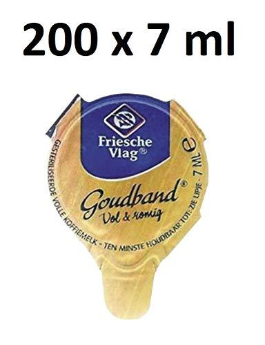 200 x Friesche Vlag Goudband Kaffeemilch Cups (200 x 7ml) inkl. Gratis Five Star Kugelschreiber