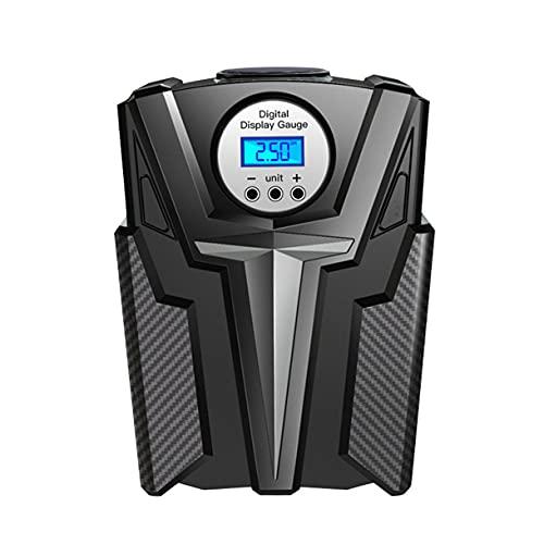 Surgewavelv Joytutus Pompa d'Aria elettrica Compressore d'Aria Portatile 6000mAh Pompa per Pneumatici Portatile per Bici da Auto Palle da Moto e Anelli da Nuoto - Nero