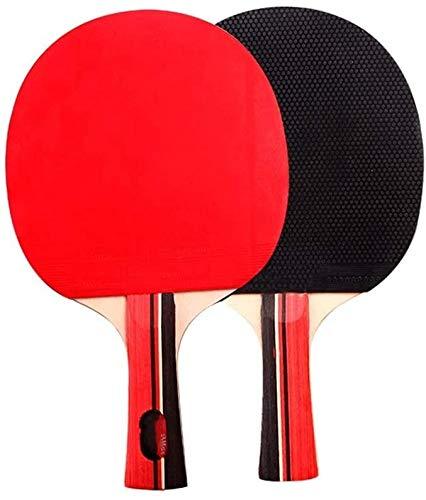 Kit Ping Pong Portátil para Interiores Exteriores Las raquetas de tenis Tenis de mesa del ping-pong paleta de ping pong principiantes dos juegos de raquetas de tenis de mesa Mesa de formación de los e
