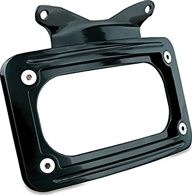 Kuryakyn 3147 Motorcycle Accessory: Curved License Plate Mount for 2010-19 Harley-Davidson Motorcycles, Gloss Black by Kuryakyn