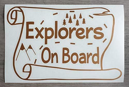 Explorers On Board - HSS371 - Autocollant en vinyle pour pare-chocs, fenêtre - Motif carte du trésor