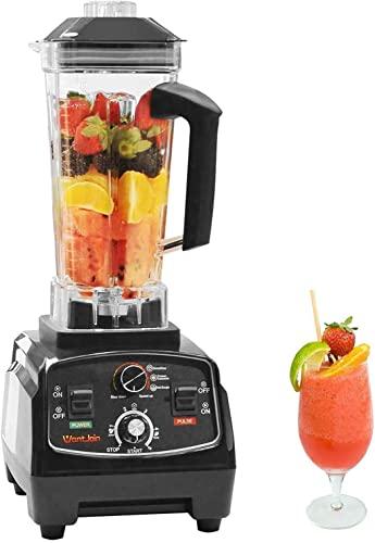 Blender Smoothie, WantJoin Blender Professionnel 2000W, Mixeur Multifonction avec 2.2L Jarre Tritan sans BPA, 30,000 Tours/Min pour les jus/salsas/boissons glacées/sauces/soupe/smoothies/shakes (Noir)
