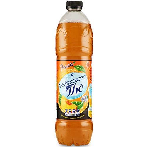 12x San benedetto Zero Eistee The' Pfirsich PET 1,5L ohne Zucker tea erfrischend