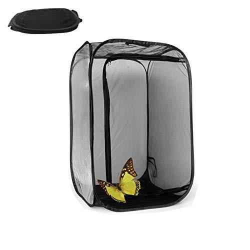 Sserryy Insekten- und Schmetterlingspflanze, für Wohnraum, Käfig, Netzstoff, faltbar, für Schmetterlinge, Vögel und Wildtiere, 38 x 24 x 23 Zoll (M)