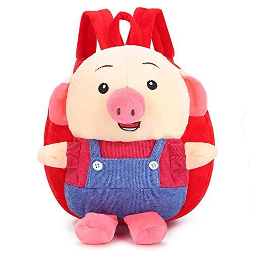 LUSTAR Toddler Backpack Plush Pig Daypack Cute Kids School Bags Children Outdoor Bag