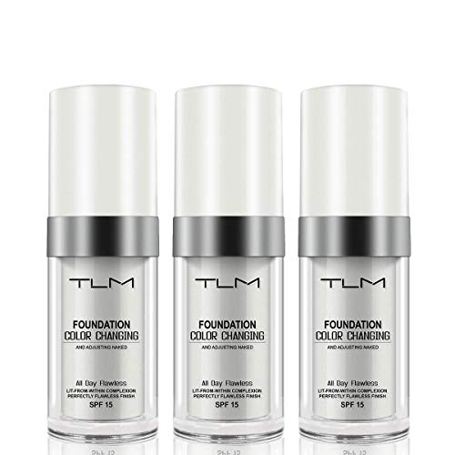 3 Pcs TLM Concealer Cover Cream, Flawless Colour Changing Foundation Makeup, Warm Skin Tone Foundation (3 Pcs)
