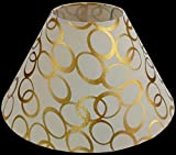 RDC 10' Round Cream with Golden Polka Dots Designer Lamp Shade for Table Lamp