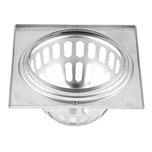 Duschbodenablauf, Edelstahl Quadrat Duschablauf Flieseneinsatz Lineare Bodenablaufrinne für Dusche Bad/Küche (11,7 cm)