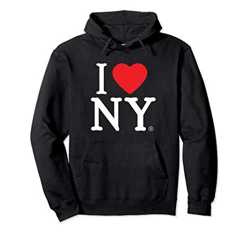 I Love NY Print Heart New York Pullover Hoodie Sweatshirt