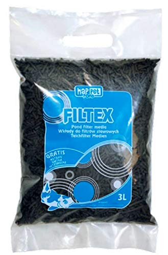 Pellets de charbon actif 3 mm, avec sac en filet Charbon pour la filtration en aquarium ou bassin, 3 L