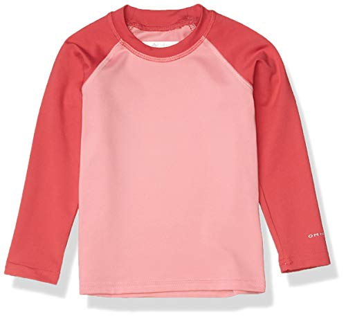 Columbia Kids & Baby Sandy Shores Long Sleeve Sonnenbrille, Pink Orchid/Rouge Pink, 2T