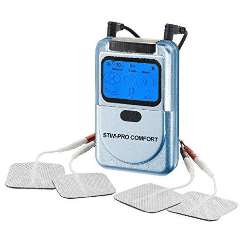 Aparato electroestimulador TENS Stim-Pro Comfort axion + Electrodos tens + Manual + Póster con aplicaciones | Sencillo electroestimulador fácil de usar