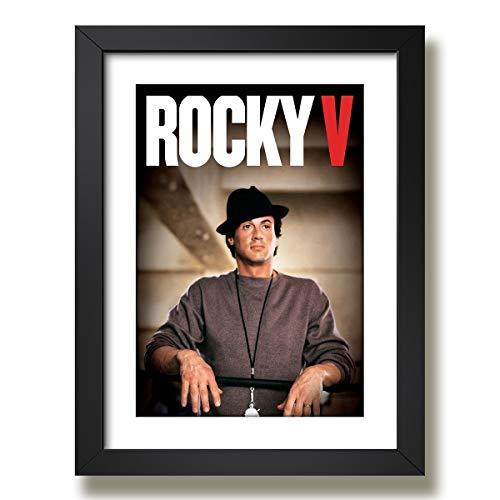 Quadro Rocky Balboa Stallone Lutador Filme Decorativo Boxe Moldura Paspatur Pronto para Pendurar