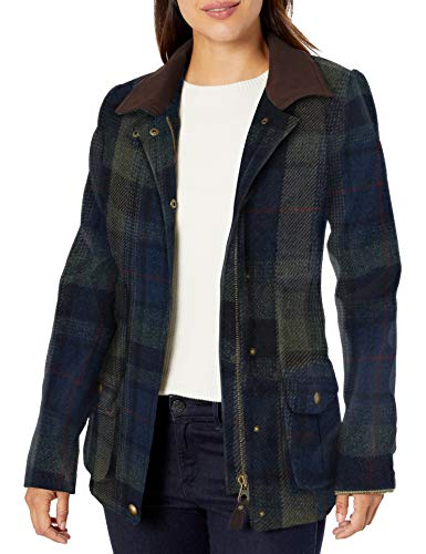 Joules Outerwear Damen Feldmantel, Damen, Fieldcoat, Grüner Blauer Tweed, 10
