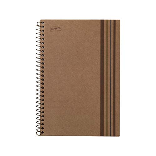 Sustainable Earth by Staples 3-Subject Notebook, 8.5 X 11, College Ruled, 150 Sheets, Brown