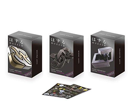 Cast Huzzle Puzzle Geschenkset No.8 Chain, Quartet, Square - SG 6 und dt. Cast Katalog