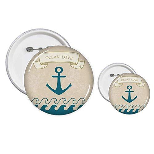 Anchor Ocean Love Sea Sailing Pattern Pins Badge Button Design Kit Craft Set
