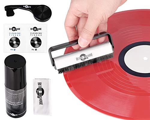 Kit de Limpieza de Discos para Discos de Vinilo con 2 Cepill