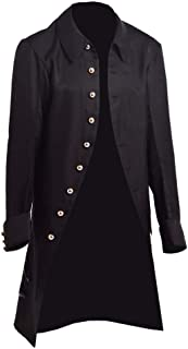 Mens Steampunk Tailcoat Jacket Gothic Victorian Vintage Coat Halloween Cosplay Costume