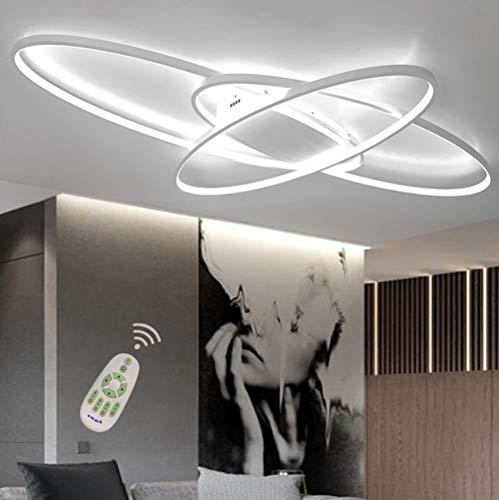 Modern Oval LED Deckenleuchte Deckenlampe Schlafzimmer Küchelampe Dimmbar Decken Pendelleuchte Esszimmer Esstisch Designer-Leuchte Chic Deco Flur Bad Lampe Acryl Panel Fernbedienung Wohnzimmerlampen