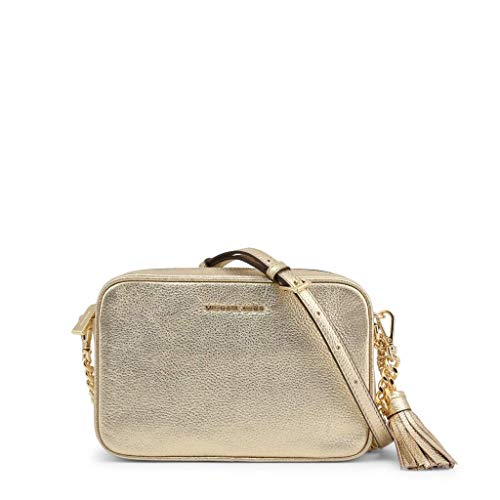Michael Kors MICHAEL by Jet Set Pale Gold Leather Crossbody Bag Einheitsgroesse Gold
