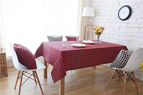 Creek Ywh Britse ruiten rood en zwart barkruk salontafel salontafel katoen linnen rechthoekige stof huisdecoratie rood rooster 140 x 200