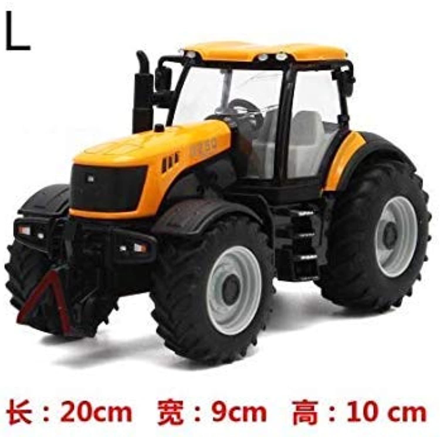 1 30 High Simulation Large Truck Farm Tractor Bulldozer Model Toy Cars Alloy Engineering Metal Boys Toys Car Yellow L