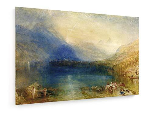 William Turner - Zuger See - Aquarell - 120x80 cm - Leinwandbild auf Keilrahmen - Wand-Bild - Kunst, Gemälde, Foto, Bild auf Leinwand - Alte Meister/Museum