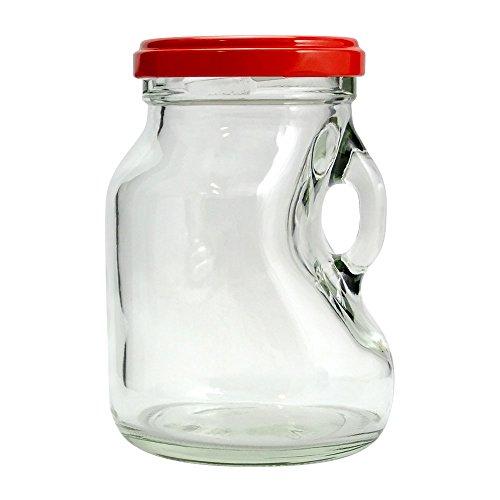ジャム瓶 T53ミニストック200 200ml ((ふた)赤53RTS-D)