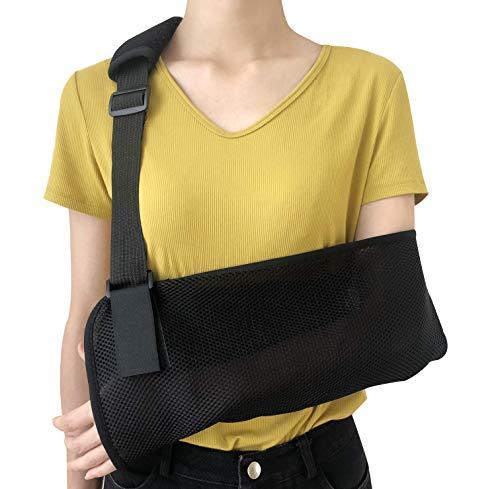 Solmyr Arm Sling, Support Strap for Broken Fractured Bones Arm Elbow Wrist-Lightweight, Breathable, Ergonomic Design, Adjustable Shoulder Rotator Cuff Support Brace