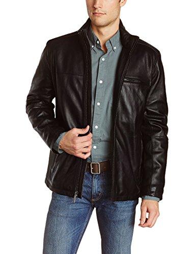 Laverapelle Men's Genuine Lambskin Leather Jacket (Black, 3XL, polyester Lining) - 1501135