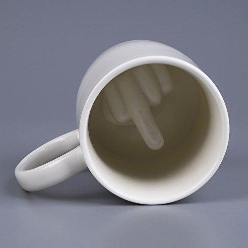 Kicode Keramik Mittelfinger Gestaltet Kaffee Milch Trinkgefäße Barbedarf Becher Schale Küchenwerkzeug