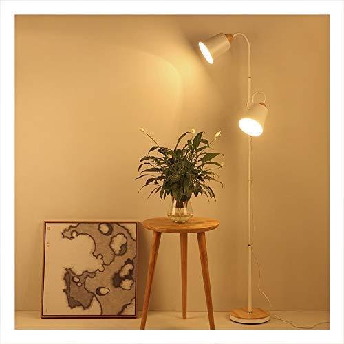 Nordic Effen Houten Vloerlamp, Wit Minimalistische Moderne Woonkamer Slaapkamer Studie Lamp, Verstelbare Lezen Vloerlamp