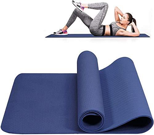 RENFEIYUAN S Gymnastics Fitness S TPE Ejercicio Delgado Deporte al Aire Libre para Pilates, Fitness, Deportes y Entrenamiento 183 x 61 x 0.6 Cm Azul esterillas Yoga Mat