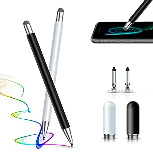 Penna per Tablet,2pz Stylus Penna pennino capacitivo per Touch Screen riggoo Universale Penna Touch Pennino Table Punta magnetico per iPad iPhone Smartphone Android Samsung