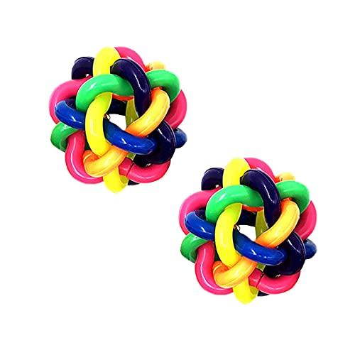 DSYU Bola colorida del tejido del arco iris, bolas de espagueti del arco iris, juguete de la descompresión del respiradero (2PCS)