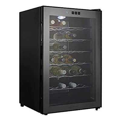 Cookology CW28BK 28 bottle Thermoelectric Wine Cooler, Less Noise & No Vibration