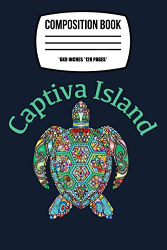 Composition Notebook: Captiva Island Tribal Turtle Gift 120 Wide Lined Pages - 6