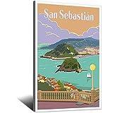 San Sebastián Poster Vintage Reise Poster Schlafzimmer