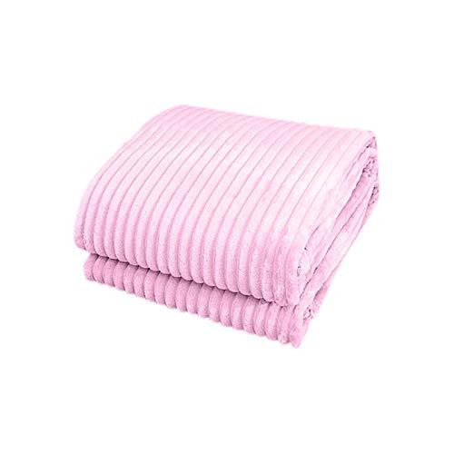 39x59 Zoll reine Farbe Cloud Nerz Fleece Flanell Decke, weiche und warme und bequeme Bettdecke, Sofadecke, warme Strickdecke, Schlafsofa Dekoration (PK, 20 * 20 * 5CM)