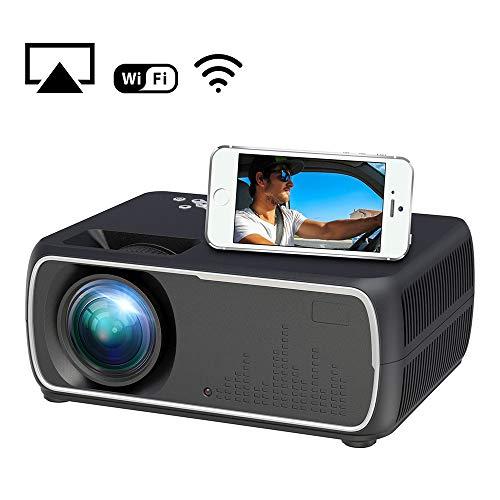 High-End Portable Movie Projector, Mini Projector met 100-inch projectiescherm, gebruikt voor het bekijken van Video Game films en andere Multi-Function Wifi Projectors