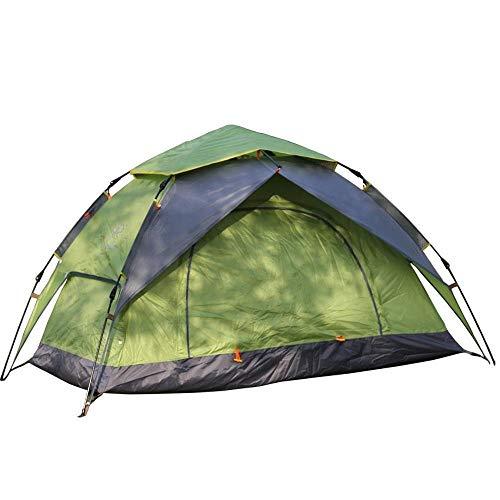 MIRAGE Zelt Outdoor Camping Double Wasserdicht Faltbares Automatik Zelt Schnell öffnen Wild Camping Zelt, Grünes Esche