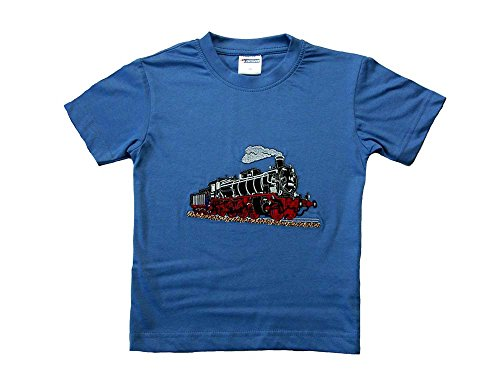 Zintgraf T-Shirt Stickerei Dampflok Lokomotive Eisenbahn #T15 (98, Azur)