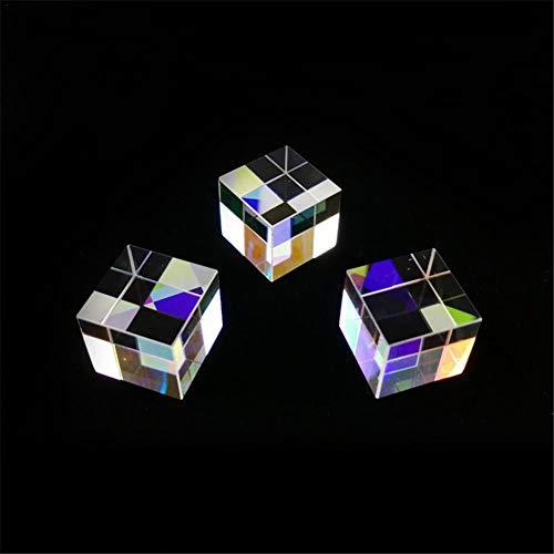 Optische prism, glazen kubus voor prisma's, kunst, kristal, regenboogreflector, fysica, fotografie, 3 stuks