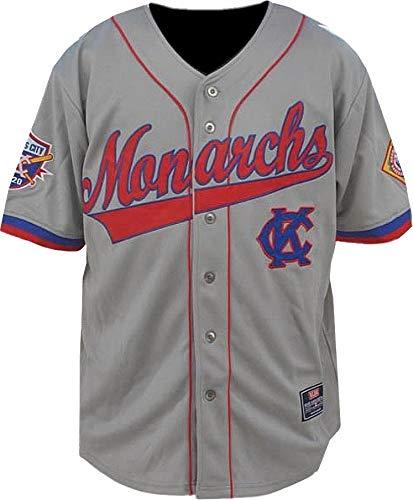 Cultural Exchange Big Boy Kansas City Monarchs Legends S3 Mens Baseball Jersey [Grey - L]
