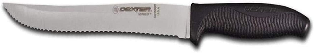 """Dexter 8"""" Scalloped Utility Slicer with Handle, Black"""